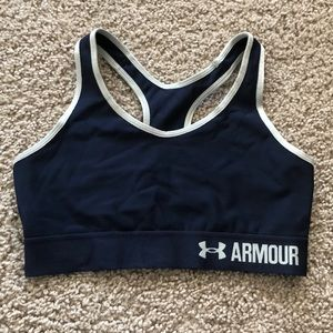 Navy under armour sports bra